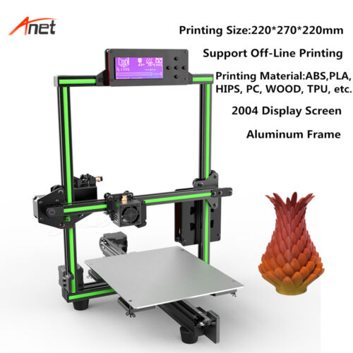 Anet E2 3D Printer DIY kit Aluminum Frame High Precision 220*270*220mm Printing