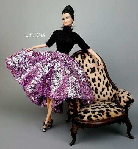 Handmade Dress Outfit Black Jumpsuit Purple Skirt Fit Silkstone Fashion Royalty