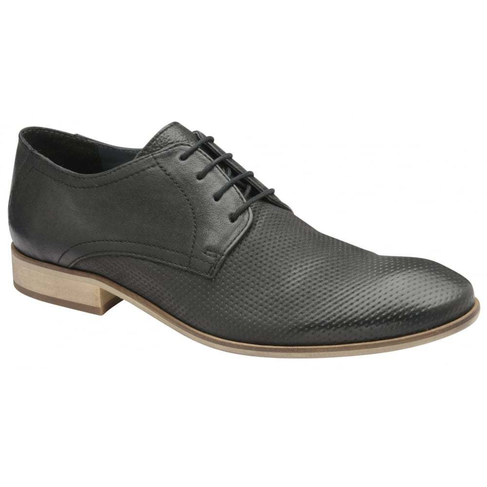 Mens Frank Wright Black Muddy Leather Derby shoes