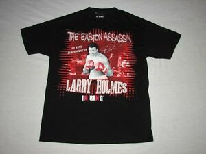 Larry Holmes The Easton Assassin Boxing Shirt Size M In Ring Vintage Apparel
