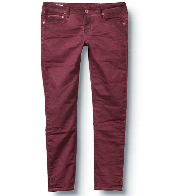 NWT QUIKSILVER Roxy Deep Fig Women Size 0 3 7 Cropped Skinny Jeans Denim Pants