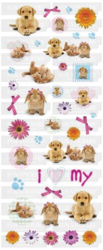 STICKER SHEET Cute Pets  Fun Stickers 323 2 sheets