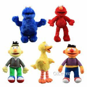 Kaws-X-Eye-Sesame-Street-Cookie-Monster-Ernie-Elmo-Bird-Bert-Plush-Toy-Doll-Gift