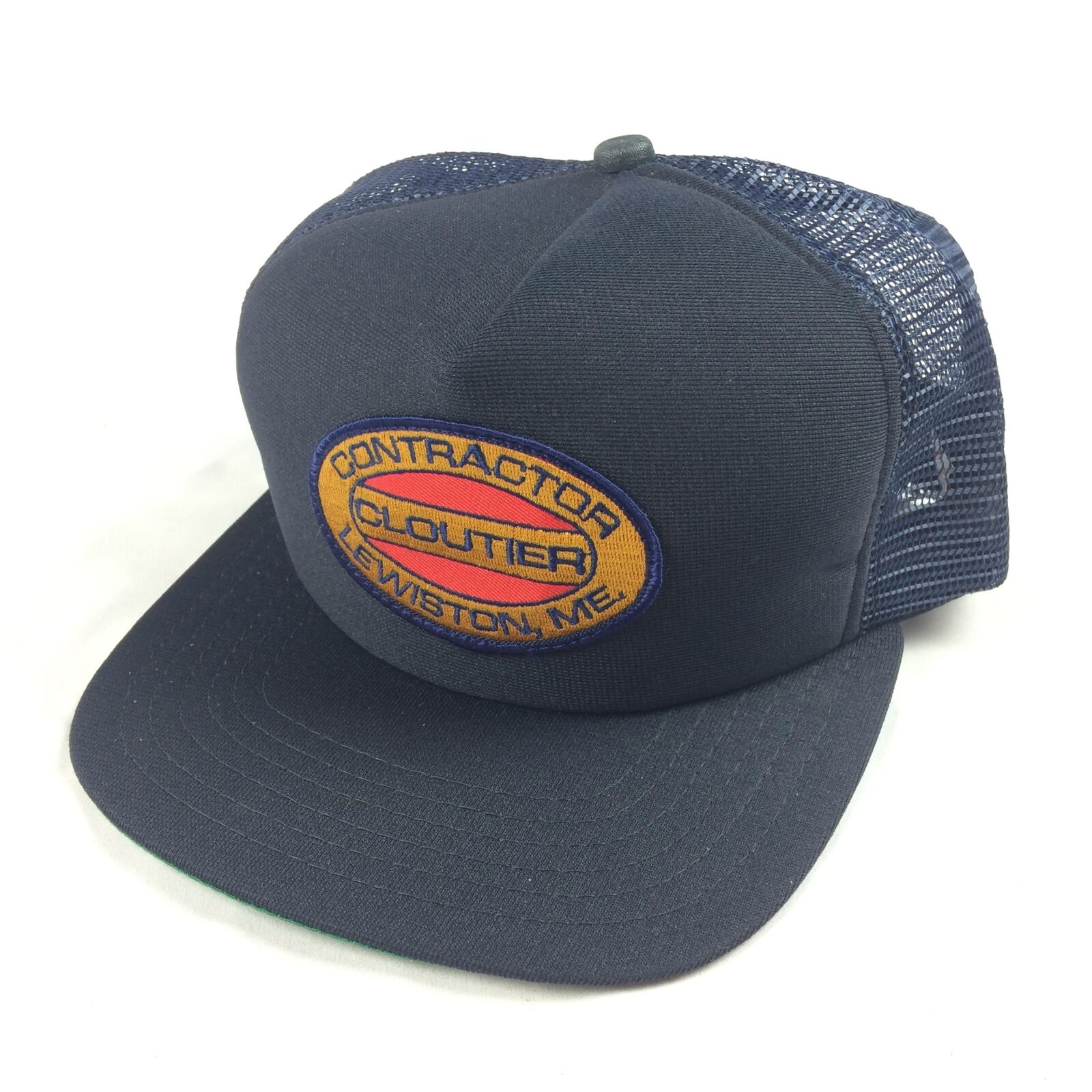 VTG Cloutier NEW Contractor Patch Hat Cap Snapback Made USA NEW Cloutier ERA Lewiston Maine 3caadb
