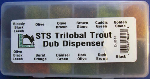 DUBBING  Fly Tying HARELINE STS TRILOBAL TROUT DUB DISPENSER