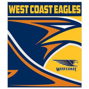 dff5e9c536 Image is loading West-Coast-Eagles-Logo-Polar-Fleece-Throw-Rug-
