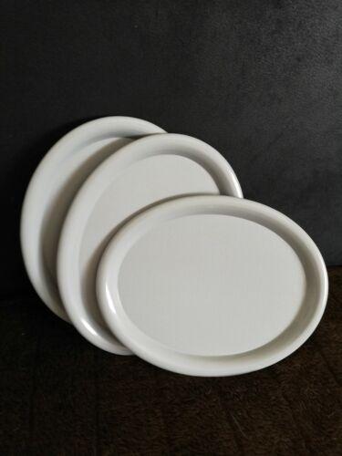 Serviertablett ~ Kunststoff ~ grau ~oval~ gebraucht ~ Kostenloser Versand ~ !!