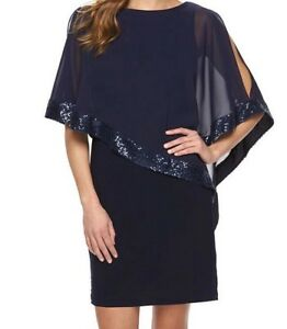 Dress Cape Navy Shimmer Navy Shimmer wqIgg6z