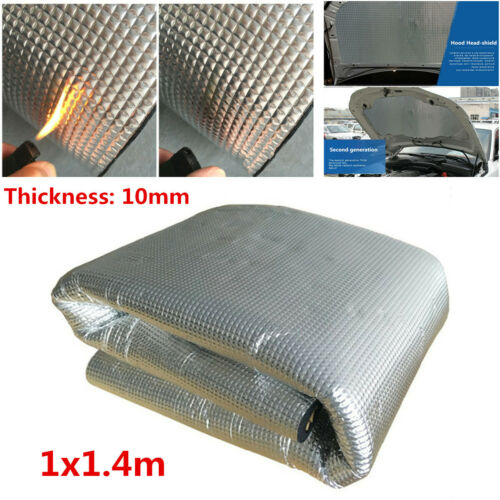 10mm Car Engine Heat Shield Sound Mat PE Self-Adhesive Thermal Insulation Foam