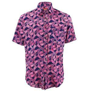 5fe2d3397bae4 La imagen se está cargando Hombre-Chillon-Camisa-Ajuste-a-medida-Pinas-Rosa-