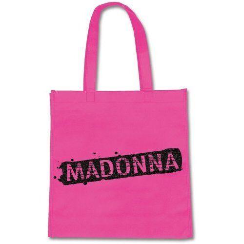 Madonna rosa bag nome logo nero tote di shopping per la vita ufficiale
