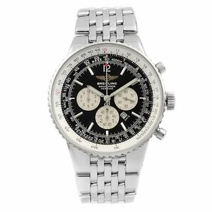 Breitling Navitimer Heritage Steel Black Dial Automatic Mens Watch A35340