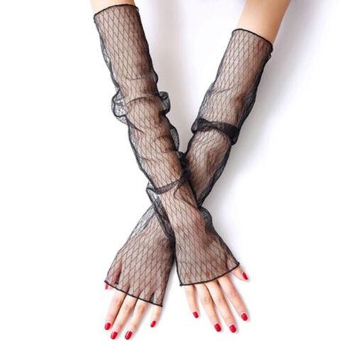Mesh Aushöhlen Handstulpen Arm Handschuhe Fischnetz Handschuhe Sonnenschu Damen