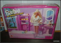 Vintage 1995 Mattel Barbie Doll So Much To Do Bathroom Playset For House