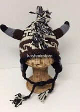 NEW Winter Egyption Chullo Mohawk Style Ear Flap Muff Ski Hat Beanie Brown #404
