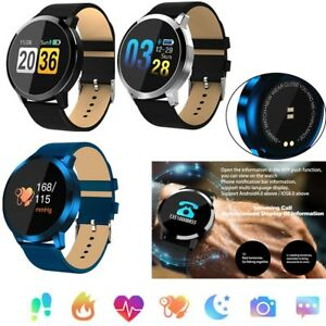 Fitness Tracker Bluetooth Smart Watch Sport Pulsmesser Armband Anrufe Erinnerung