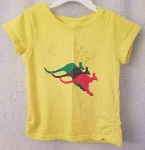 Coogi-Girls-Yellow-Blue-Green-Red-Kangaroo-Shirt-Top-Blouse-Size-4T