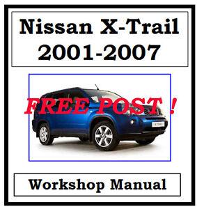nissan x trail xtrail t30 2001 2007 factory workshop manual on cd rh ebay com au nissan x trail t30 service manual free download nissan x trail t30 _service_manual.rar