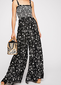 FREE PEOPLE COLOR MY WORLD ONE-PEICE JUMPSUIT SIZE M MEDIUM  148 ONYX COMBO NEW