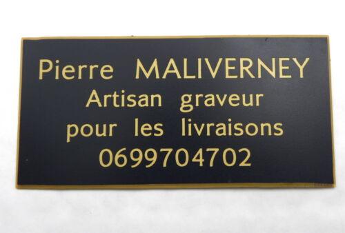 plaque gravée boite lettres porte personnalisée 4 lignes  format 48 x 100 mm