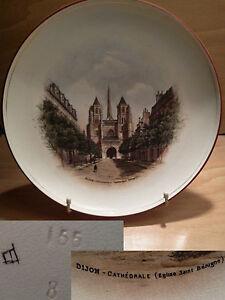 Ancienne Assiette Souvenir De Dijon église Saint Bénigne Art Déco Début Xx ème 4qfizbto-08004904-228515576