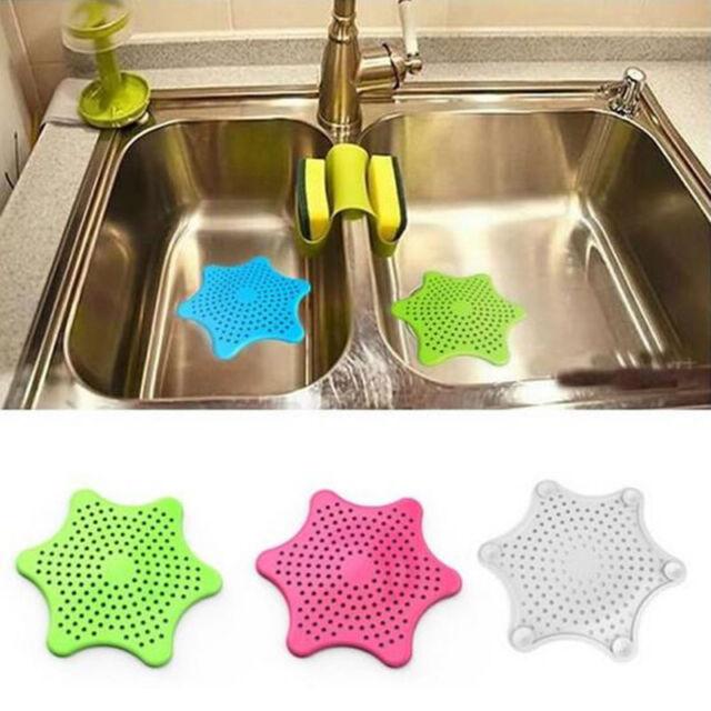 Silicon Sink Strainer Bath Hair Stopper Shower Rubber Drain Cover Plug Kitchen