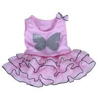 Pink Sparkle Top & Tutu Skirt Teddy Clothes Fits 15-16(40cm) Build A Bear