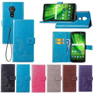 Pour-Motorola-Moto-G6-Play-Plus-Magnetique-Cuir-PU-Clapet-Pied-Portefeuille-Etui