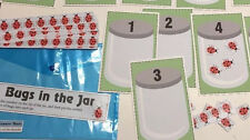 Bugs In a Jar - Learning Center Kit- Math Counting 0 - 10 Laminated Mats #0002