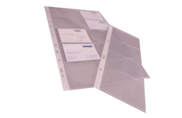 Prooffice Visitenkarten Hülle A5 Pp Folie Transparent
