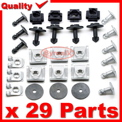 A8 TT A4 Audi Engine Undertray /& Underbody Shield Clips /& Fasteners Kit A3 A6