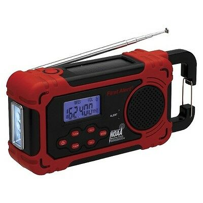 First Alert FA1160 Self-Powered AM/FM Weather Band Radio - Red/Black