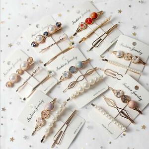 3Pcs-Set-Korean-Crystal-Pearl-Metal-Hair-Clip-Hairpin-Hairclip-Girl-Pin-Jewelry