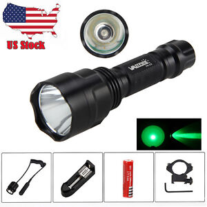 6000lm-Q5-T6-White-Green-Rechargeable-LED-Tactical-Flashlight-Torch-18650-Lamp