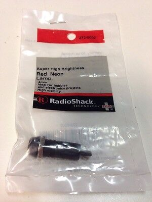 Super High Brightness 4mm Red Neon Lamp Radio Shack  #272-0002    NEW