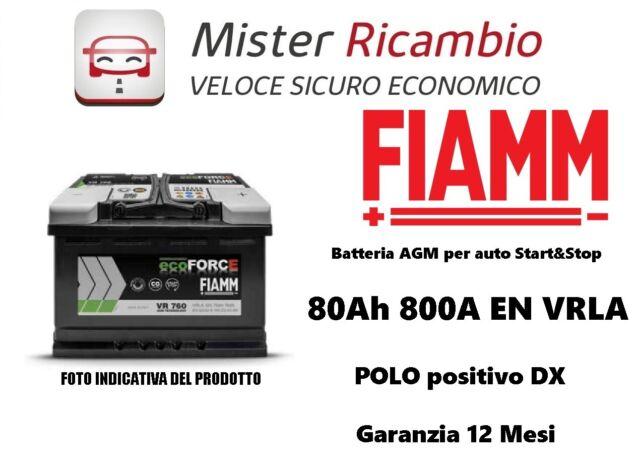 Batteria FIAMM ecoFORCE VR800 80Ah 800A L4 - AGM Technology Misure 315x175x190