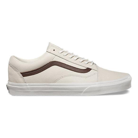 VANS VANS VANS Old Skool (Leather) white de white Potting Soil Leather MEN'S Size 8.5 a919a7