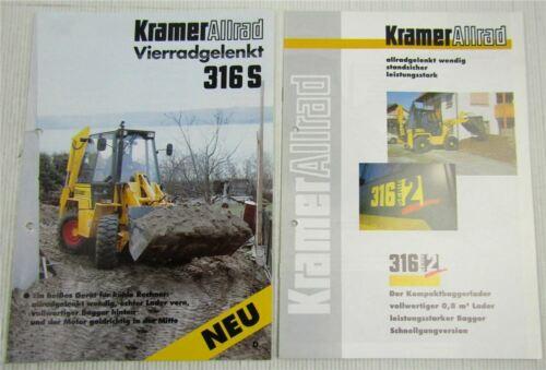 316 Serie 2 1998 2 Prospekte mit Technischen Daten Kramer Allrad 316S 1994