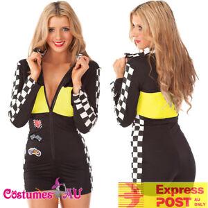 Miss Racer Racing Sport Driver Costume Super Car Girl Laides Hot Wheel Uniform