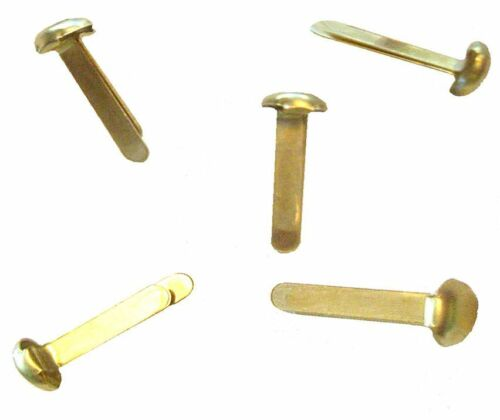 1000 Rundkopfklammern zum Basteln gold golden goldfarbig vermessingt Klammern