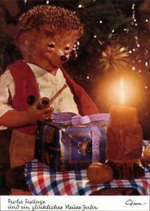 Ansichtskarte  Mecki (Diehl-Film): Weihnachtsgeschenke Kerze und Pfeife 1975