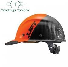 Lift Safety Dax 5050 Carbon Fiber Cap Hard Hat Orange Black