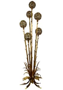 Banci-Firence-Steh-Lampe-Florentiner-Goldblatt-Boden-Leuchte-Floor-Lamp-50er60er