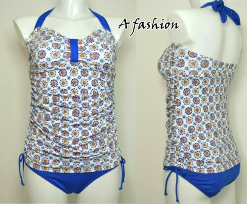 BATHING SUIT 558 NEXT SWIMSUIT SWIMMING COSTUME LADIES BLUE FLORAL TANKSUIT