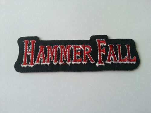0026 a HEAVY METAL PUNK ROCK MUSIC SEW // IRON ON PATCH:- HAMMER FALL PATCH No