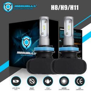 IRONWALLS-H11-H9-H8-CSP-LED-Headlight-Fanless-Kit-Fog-Light-Bulbs-2100W-6500K