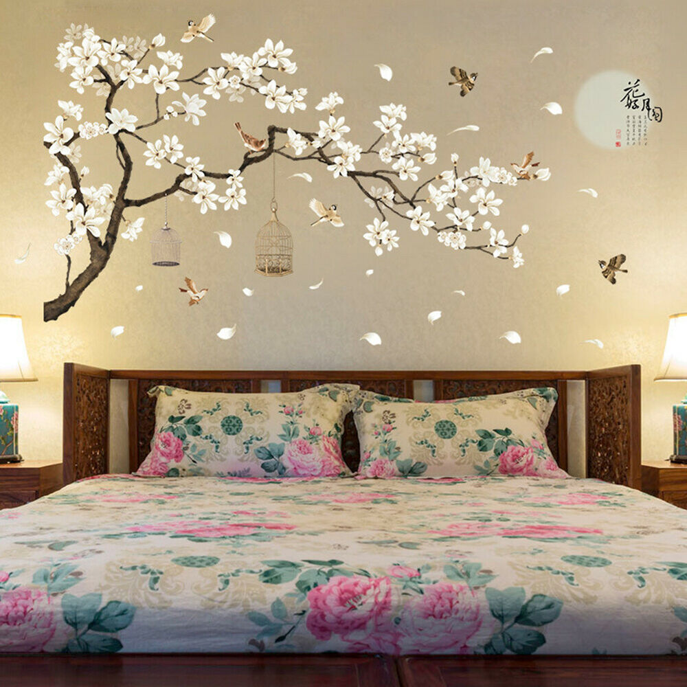 Home Decoration - BE_ Removable 3D Flower Tree Home Room Art Decor DIY Wall Sticker Decal Charm