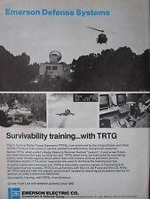 9/1982 PUB EMERSON DEFENSE SYSTEMS TRTG TACTICAL RADAR THREAT GENERATOR AD