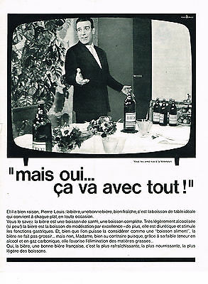 Collectibles Publicite Advertising 014 1965 Pierre Louis La Bière Bien Fraiche Vu à La Tv Easy And Simple To Handle