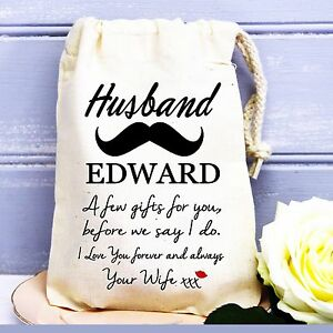 Image Is Loading Groom Husband To Be Personalised Wedding Day Cotton